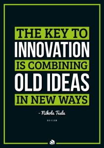the key to innovation is combining old ideas in new ways - Innovolo Product Development and Design - Innovation-as-a-Service