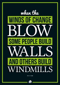 when the winds of change blow some people build walls and others build windmills - Innovolo Product Development and Design - Innovation-as-a-Service