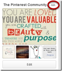 Pinterest How to tell a community board from a personal board
