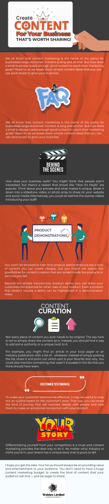 Content Worth Sharing Infographic
