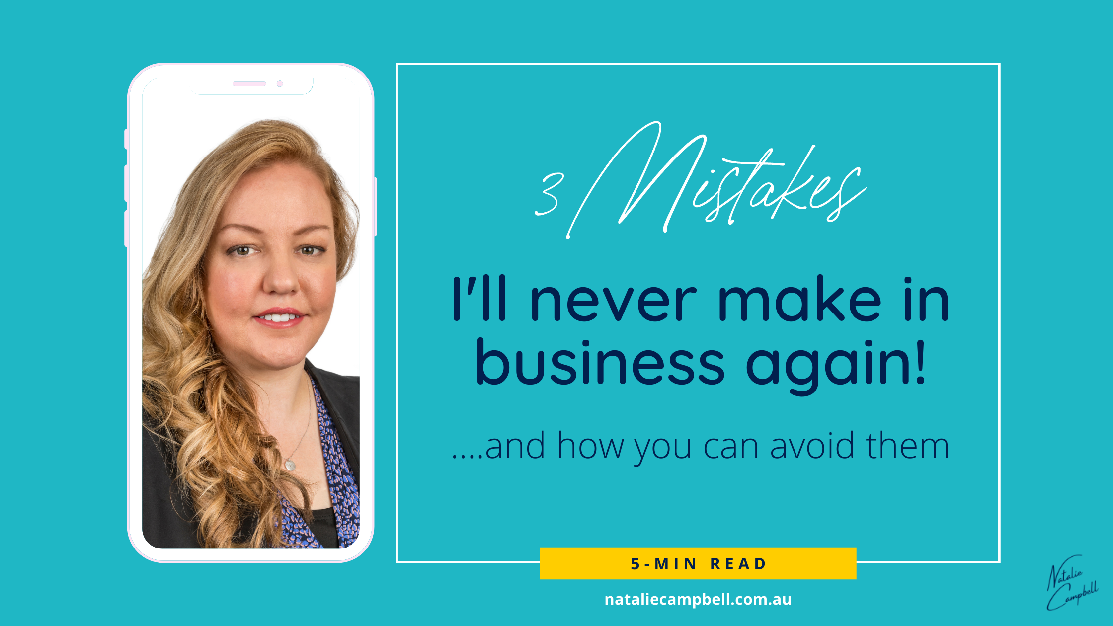 Blog Banner - 3 Mistakes in Business