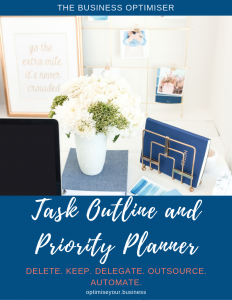 The Business Optimiser - Task Outline and Priority Planner