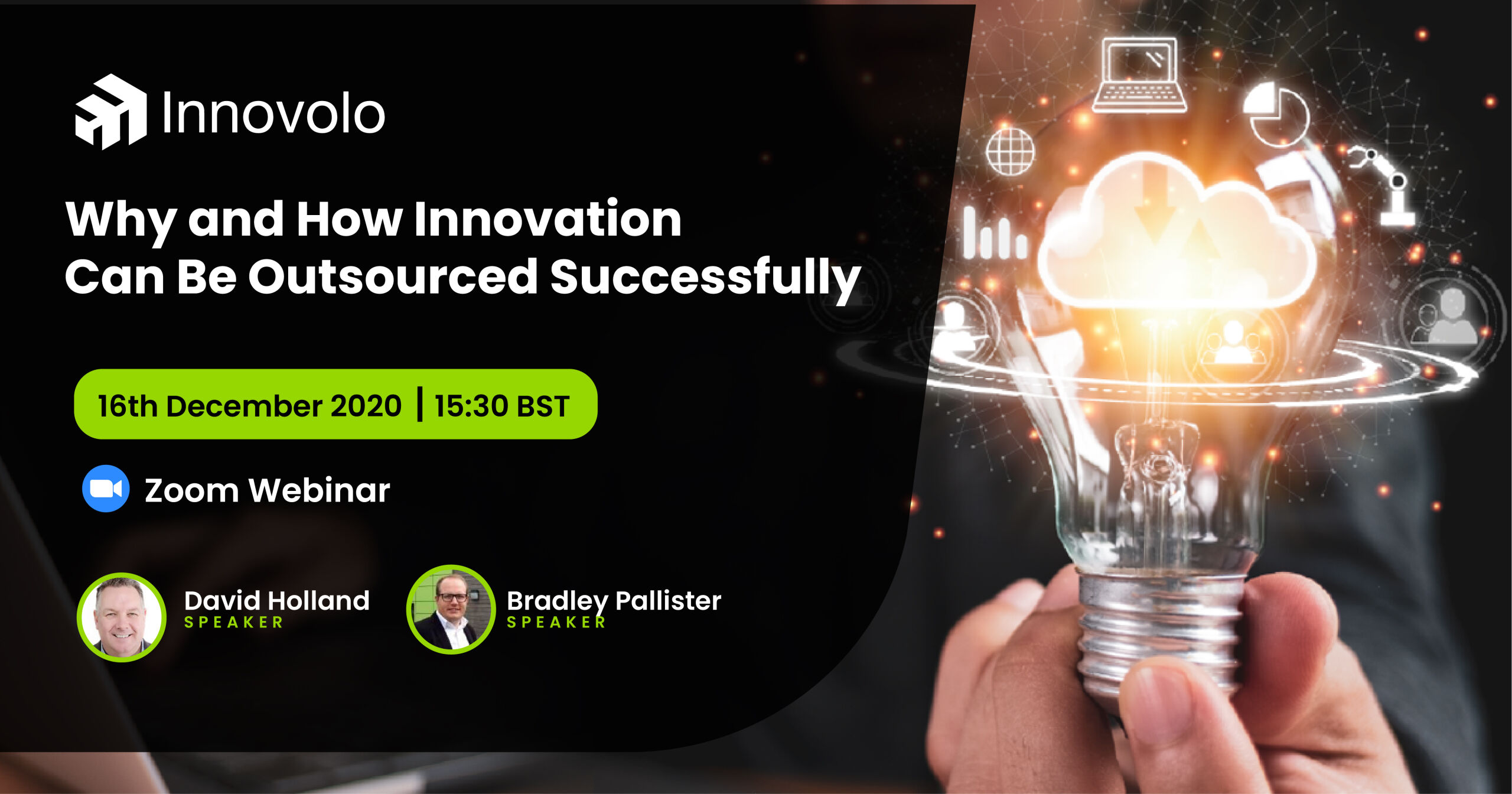 outsourced, Why and How Innovation can be Outsourced Successfully – Webinar with David Holland, Innovolo Ltd