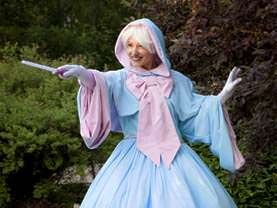 The Fairy Godmother loves to travel to Calgary and surrounding areas to delight audiences at birthday parties for boys and girls.
