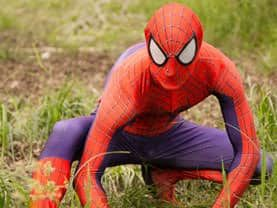 Calgary's Spider Hero striking a pose, ready to help his superhero friends fight crime
