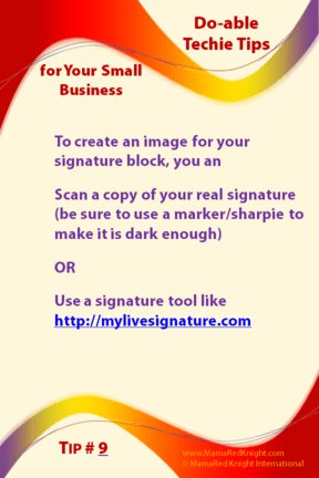 How to to create a graphic signature