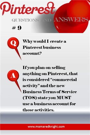 Pinterest Answers Why Have A Business Account