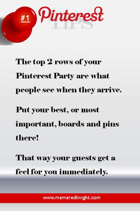 Pinterest Tips Put Most Important Pins- In Top 2 Rows