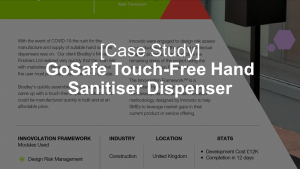 GoSafe Touch-Free Hand Sanitiser Dispenser Case Study UBT