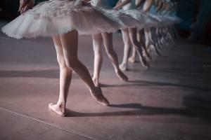 Ballet dancers wearing tutus