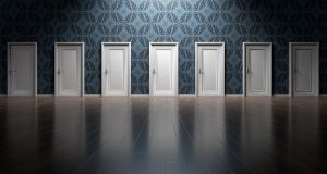 confusion of choosing the right door