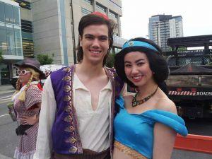 Desert Princess and her prince posing