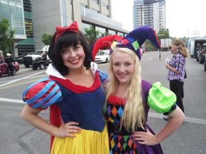 Apple Princess and Adorable Jester at the Calgary Stampede 2014 Parade