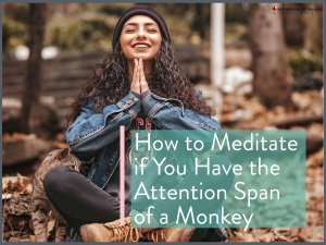 How to Do Meditation if You have the Attention Span of a Monkey
