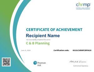 C&B Planning Certificate