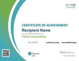 talent acquisition certificate