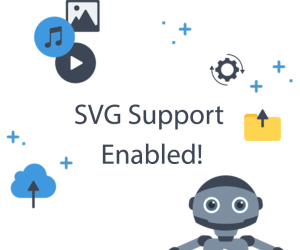Publitio supports SVG format