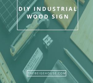 diy industrial wood sign