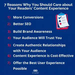 7 reasons why you should care about your readers content experience