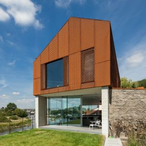 Corten Steel cladding to The rusty house RIBA winning project