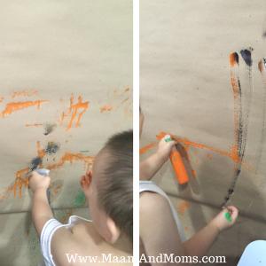 spray painting Tempera Paint