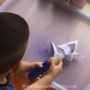 spray painting Tempera
