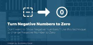 Turn Negative Numbers into Zero