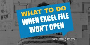 Excel File cannot be opened ? Last Solution