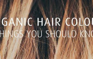 Brown highlights organic hair colours