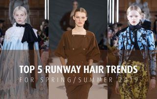 Three models on runway hair style trends