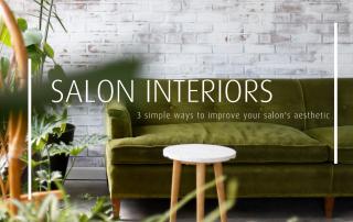 salon interior green