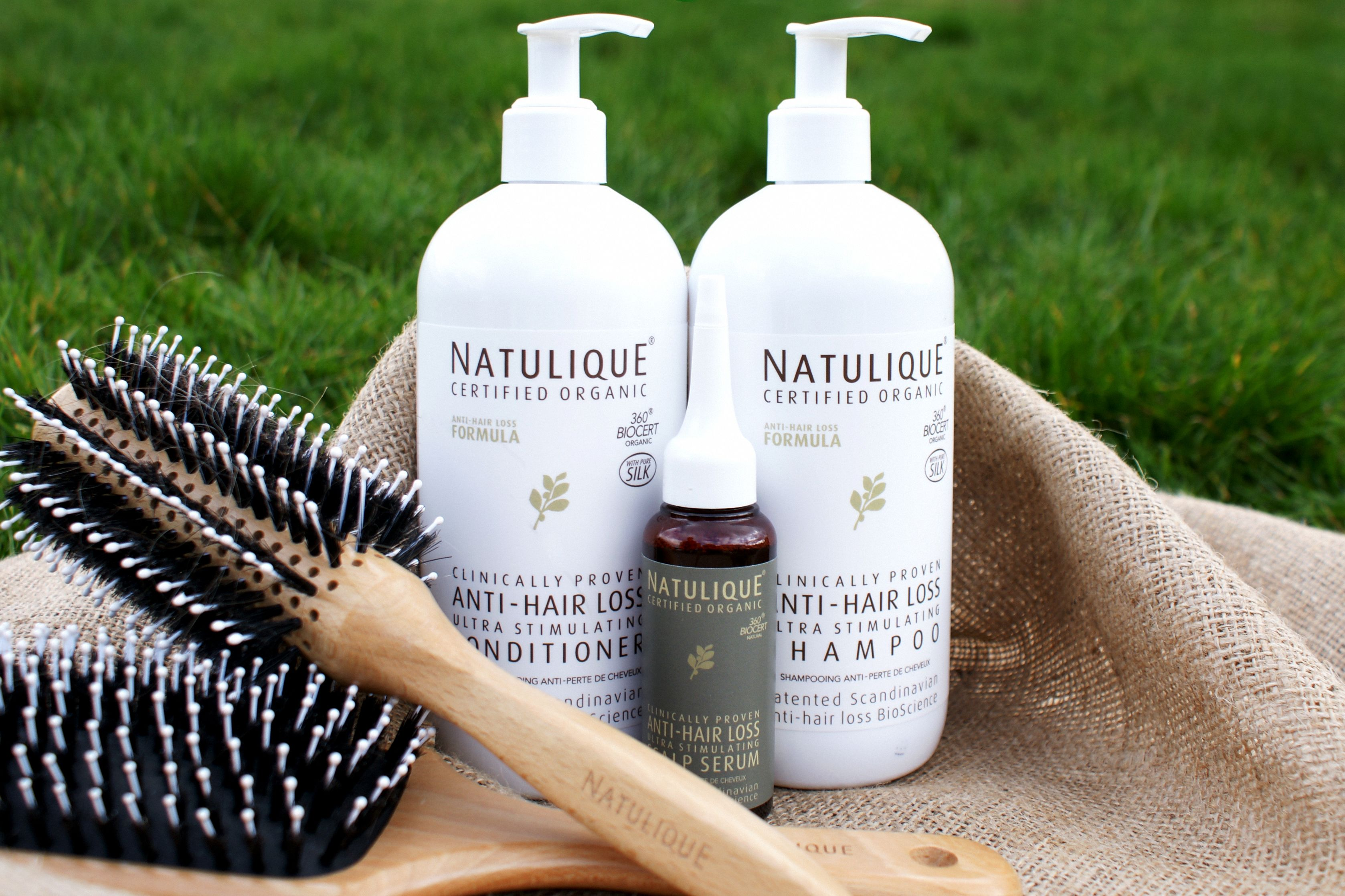 Natulique Anti Hair Loss Family with brushes