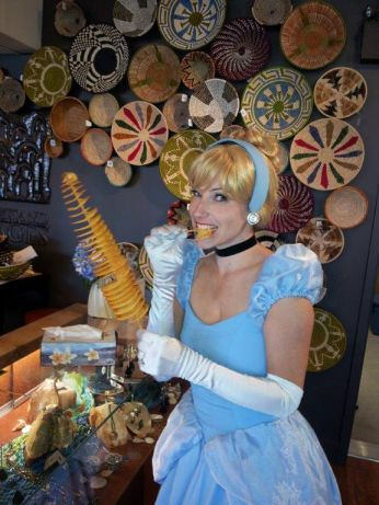 Cinderella trying Sour Cream and Onion Spiral Chips