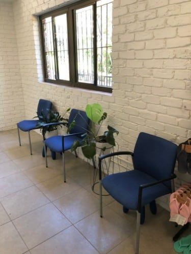 Dynamic Podiatry waiting room with chairs further apart for the Corona Virus