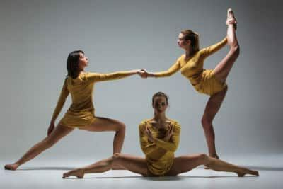 3 Ballet dancers doing exercises