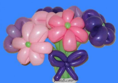 flower balloon sculpture