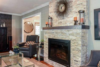 8. 200 Appleford Court Hamilton - Living Room Fireplace