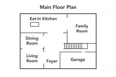 Main Floor Plan - 990 Upper Kenilworth Avenue