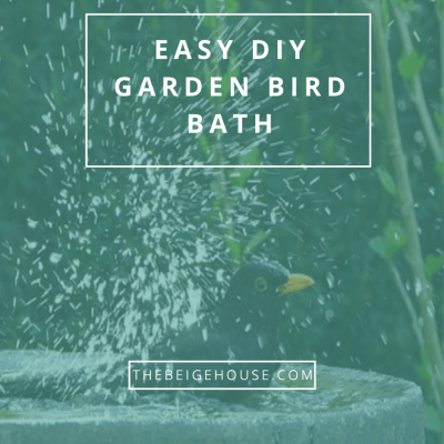 Easy DIY Garden Bird Bath