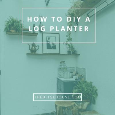 How To DIY A Log Planter
