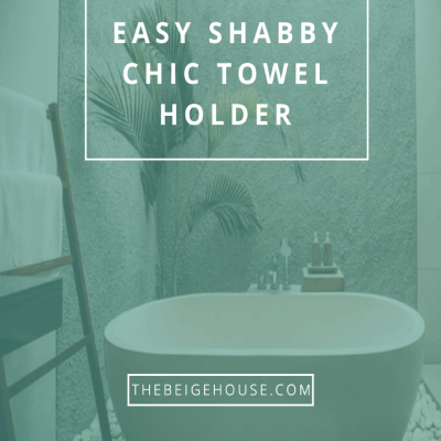 DIY Shabby Chic Towel Holder