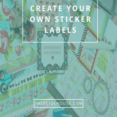 How To Create Your Own Sticker Labels