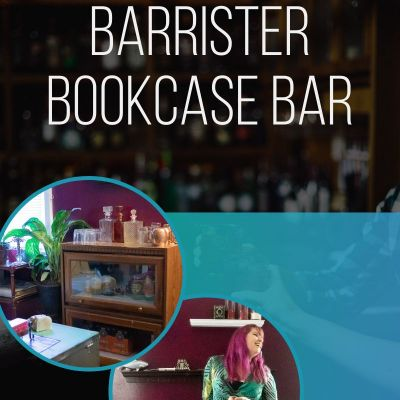 Repurposing a barrister bookcase into a bar