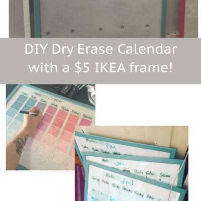 DIY reusable task calendar