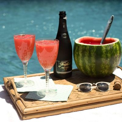 Poolside Perfection: Sweet Sparkling Watermelon