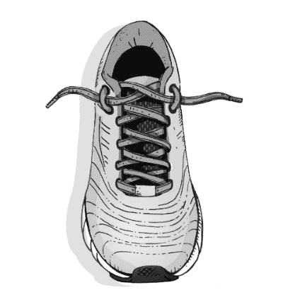 The lace lock shoe lacing method