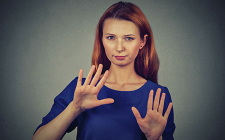 Woman resisting being sold to