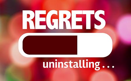 image of spending regret