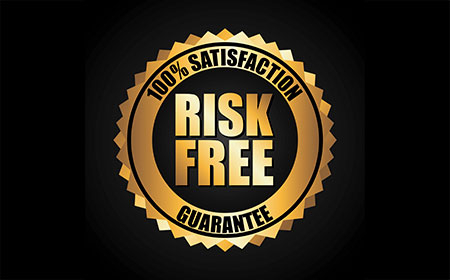badge displaying give your client a risk free guarantee