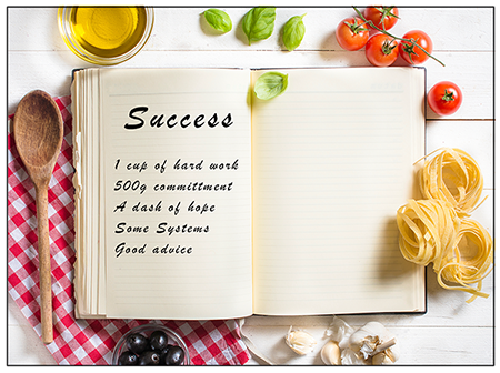 image showing recipe for success